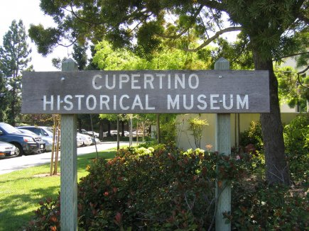 Cupertino Historical Museum Landmark Sign