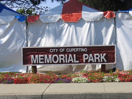 Cupertino Memorial Park Sign