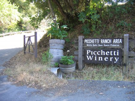 Pichetti Winery Landmark Sign