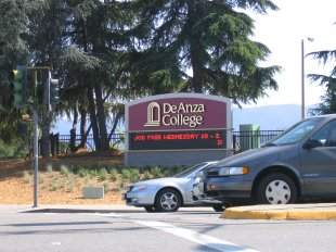 De Anza College Street Sign-De Anza College Street Sign (medium sized photo)